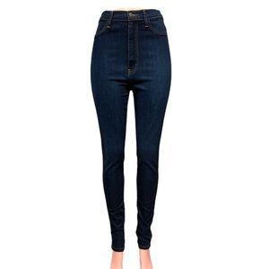 Fashion Nova high waisted dark wash skinny jeans